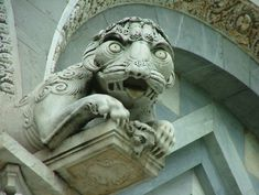 Gargoyle on Santa Maria Assunta | Pisa, Italy | the  Cathedral behind the famous tower, over the entrance.