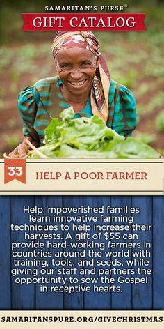 Help provide impoverished families learn innovative farming techniques to help increase their harvest Franklin Graham, Farming Techniques, Drought Resistant Plants, Mission Projects, Pay It Forward, Thats The Way, Amazing Grace, Talk To Me, Christian Quotes
