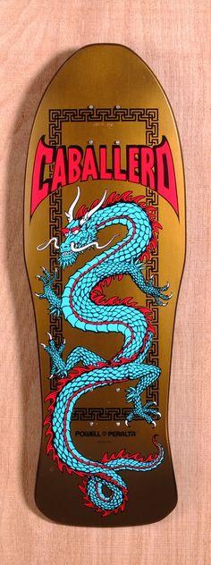 "Powell 29.75"" Caballero Chinese Dragon Skateboard Deck"