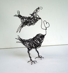 Two Birds, ONE LOVE - Wire Bird Sculpture