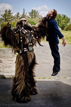 Epic Star Wars wookie cosplay