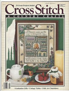 Vintage Cross Stitch & Country Crafts Magazine May/June 1987 OOP Counted Cross Stitch Magazine 29 Projects