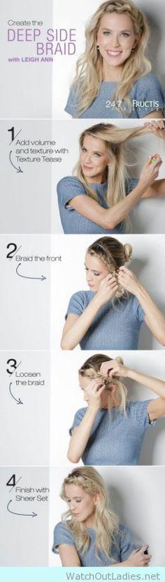 How to create a deep braid hair tutorial