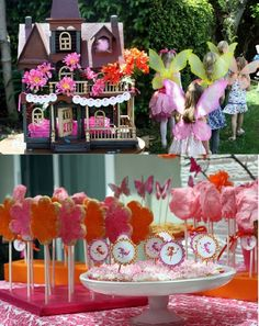 fairy centerpiece ideas | love fairies, I love pink and I love girly party details. I'm not ...