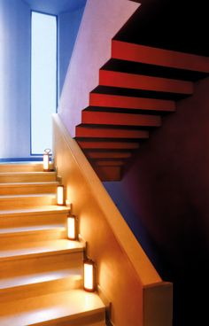 In the staircase, scattered, magnetic light guided my steps. Lighting Collections, The Lanterne d'Hermès. #Hermes #Home