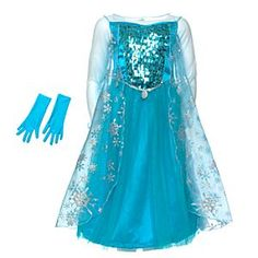 Disney Elsa From Frozen Costume For Kids | Disney StoreElsa From Frozen Costume For Kids - Capturing the magic of Elsa the Snow Queen from Frozen, this stunning dress features a sequined bodice with pearl beading, rhinestone collar embellishment, gloves and a sparkly snowflake printed cape.