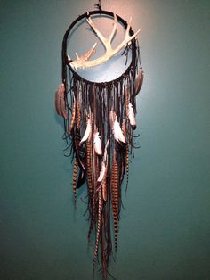 Deer antler dream catcher mobile by lovecAkeNYC on Etsy