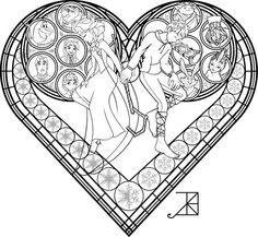 stained glass coloring page frosted love by akili amethyst on deviantart
