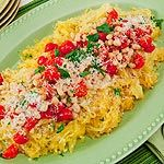 I've always wanted to try spaghetti squash - Spaghetti Squash with Roasted Tomatoes