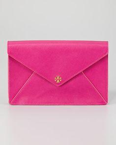 Tory Burch Robinson Envelope Clutch, Large - Neiman Marcus
