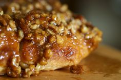 Quick Sticky Biscuits are flavored with cinnamon, caramel, and pecans. A wonderful morning treat!