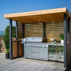 Modular Outdoor Kitchens, Outdoor Cooking Area, Outdoor Kitchen Patio, Outdoor Kitchen Design, Covered Outdoor Kitchens, Outdoor Living, Grill Area, Bbq Area, Barbecue