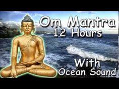 REIKI MUSIC - Om mantra 12 Hour Full Night Meditation with ocean Sound with Tibetan Monks