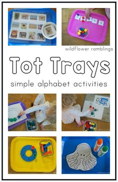 tot trays for early learning - Wildflower Ramblings New