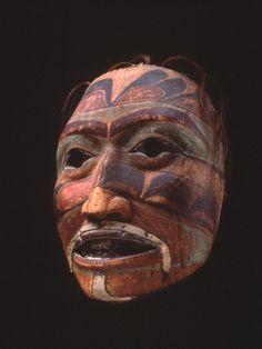 Collections - SAM - Seattle Art Museum NIIJAANG.U (PORTRAIT MASK), CA. 1840, HAIDA, 91.1.38
