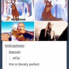A prince does not whoo-hooo. Legolas and Thranduil Disney And Dreamworks, Disney Pixar, Bambi Disney, Legolas And Thranduil, Thranduil Funny, Legolas Funny Faces, Legolas Father, O Hobbit, Hobbit Funny