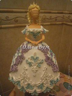 Куклы Квиллинг Дама в белом  Зима Бусинки Картон гофрированный фото 1