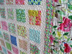 RESERVED Simply FLEUROLOGIE 54x60 quilt in soft by pinetreelodge, $57.00