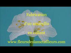 Fabrication d'un amaryllis en collant / How to make a nylon amaryllis - YouTube