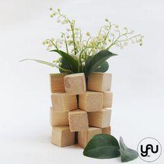 Aranjament floral LACRAMIOARE in suport YaU din lemn | YaU Concept BLOG