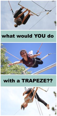 Flying Trapeze Camp at Pali Adventures! http://www.paliadventures.com/specialties/flying-trapeze-aerial-arts/