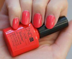 Tropix - cream - opaque - coral/ orangey pink