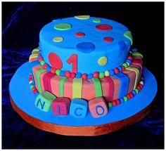 #Cake #Colores #Torta #UnAño #1año #Cumpleaños