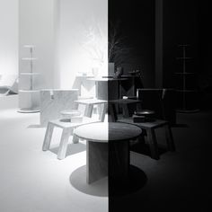 Nendo designs symmetrical space for Marsotto Edizioni's Light and Shadow exhibition