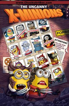 X-MINIONS: DAYS OF FUTURE PAST Mashup Fan Art Series — GeekTyrant