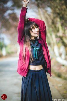 写真 Asian Cute, Beautiful Asian Girls, School Uniform Girls, Japan Girl, Kawaii Clothes, Models, Short Tops, Cosplay, Cute Girls
