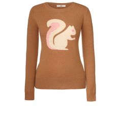 Orla Kiely: Cute sweater with intarsia squirrel on front.    Length: 60cm
