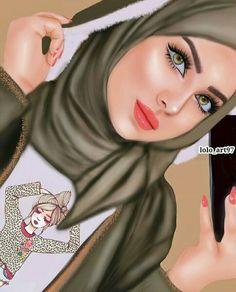 Cartoon Girl Images, Girl Cartoon, Sarra Art, Hijab Drawing, Beautiful Girl Drawing, Comic Tattoo, Girly Drawings, Cartoon Drawings, Art Drawings