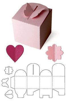 Blitsy: Template Dies- Pop-Up gift Box - Lifestyle Template Dies - Sales Ending Mar 05 - Paper - Save up to on craft supplies! Diy Gift Box, Diy Box, Diy Gifts, Diy Paper Box, Paper Boxes, Gift Boxes, Papier Diy, Box Patterns, Craft Box