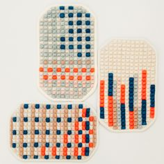Image of Poholders III- Karen Barbe... Embroidered organic cotton. Her blog and shop are great!