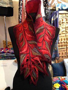 Dagmar Binder scarfs, unique handmade felt collar