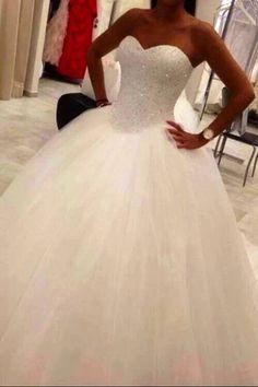 Beautiful Diamanté Wedding Dress