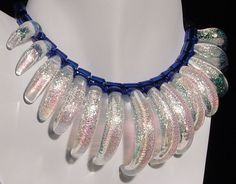 Interesting necklace of boro glass
