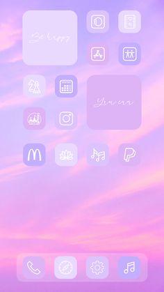 Light Purple app icons - etsy