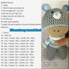 Amigurumi knitted eared and nosed ouumcak hat child model recipe . : Amigurumi Knitted Eared and Smelled Ouumcak Hat Child Model Recipe … – # close Baby Knitting Patterns, Crochet Amigurumi Free Patterns, Crochet Doll Pattern, Doll Patterns, Free Crochet, Crochet Kawaii, Diy Crafts Crochet, Amigurumi Doll, Baby Lovey