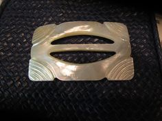 Mother of Pearl Belt Buckle 1940s Wedding by LaVoynneVintage, $18.00