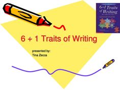 6 plus 1 traits slideshow gives some ideas on how to teach the six traits.