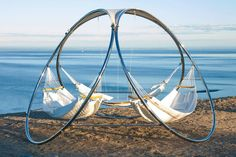 Exterior. Amazing Modern Cocoon Hammock Design. Gorgeous Trinity Hammocks Come With Modern Free Standing Hammock With Chrome Stand And Deluxe Fabric Hammock With Stand And Amazing Lounge Hammock Design Along With Hammock Stand