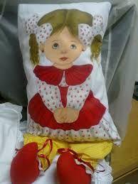Resultado de imagem para almofada de boneca pintada solana salmia