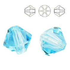 5328 Bicone 6mm Aquamarine 10 pieces  Dimensions: 6,0mm Colour: Aquamarine 1 package = 10 pieces