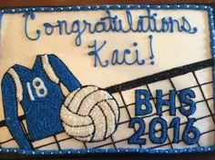 Volleyball Graduation Cake