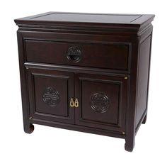 Hand Carved Bedside Cabinet