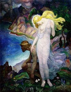 Newell Convers (N.C.) Wyeth - Odysseus and Calypso 1929 - The Athenaeum
