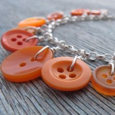 cute button bracelet...love the color