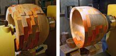 Cool Segmented Bowl. By Frank Howarth, via woodworkingformeremortals.com