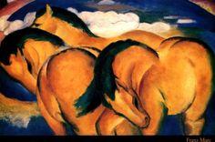 Petits chevaux jaunes,1912 franz marc